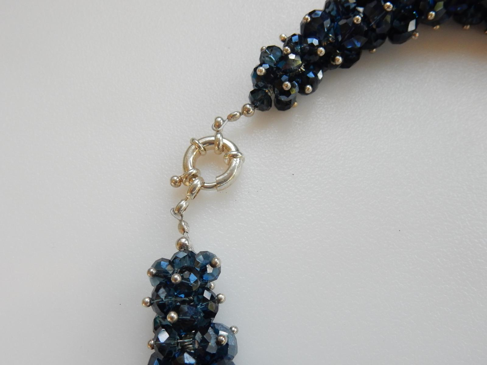 Photo of Midnight Blue Crystal Choker Necklace