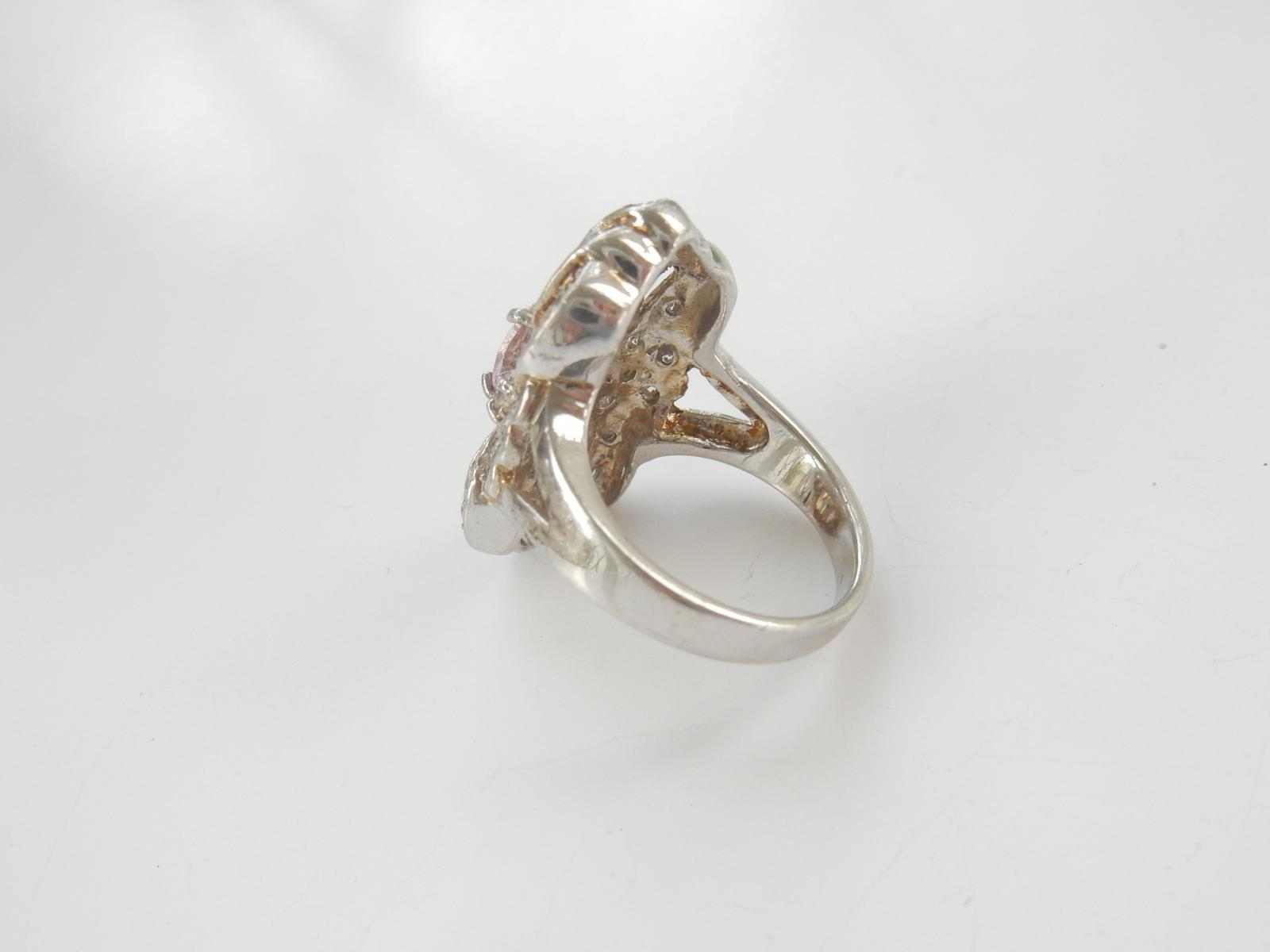 Photo of Sparkling Silver & Pink Ring