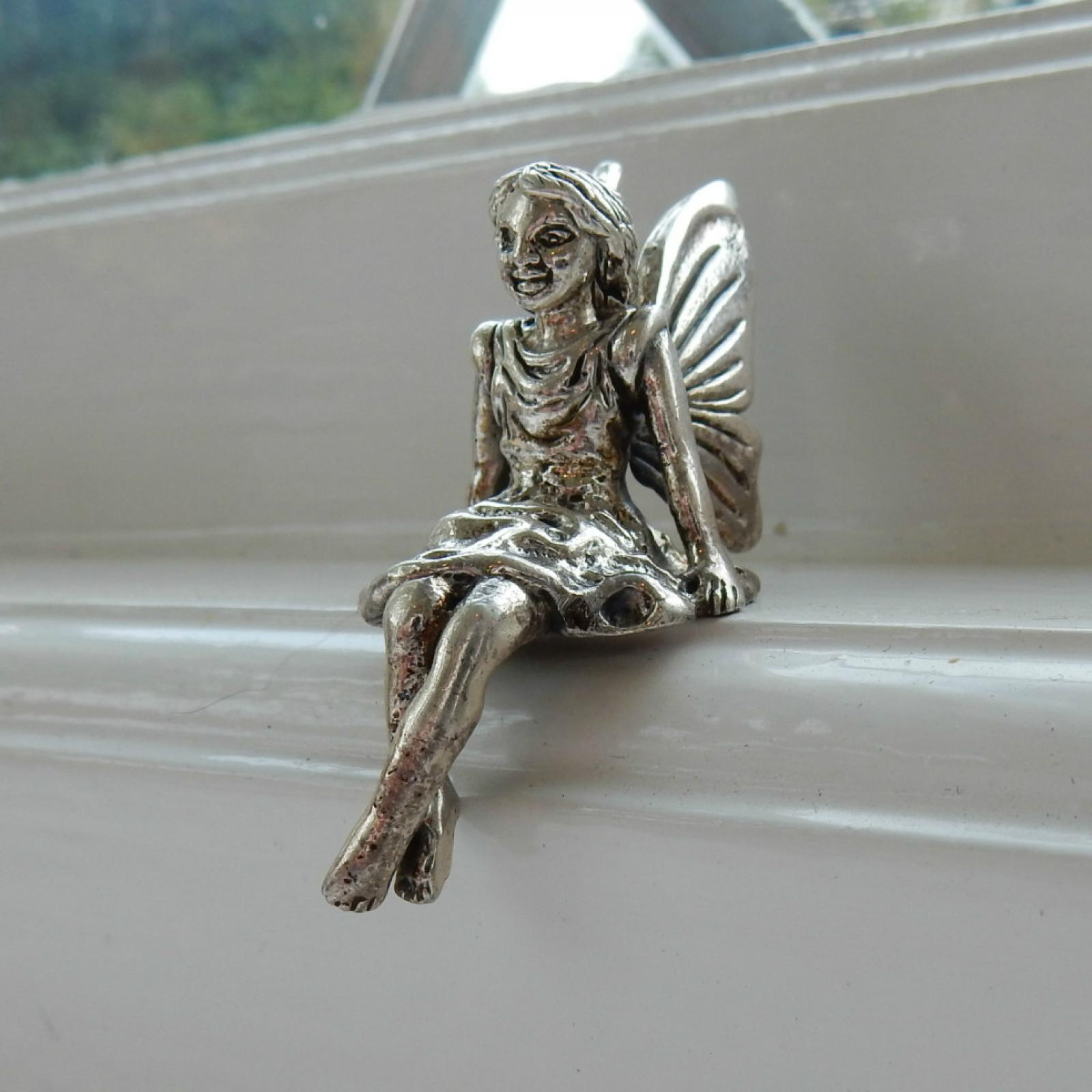 Photo of Sterling Silver Fairy Window Ledge Charm