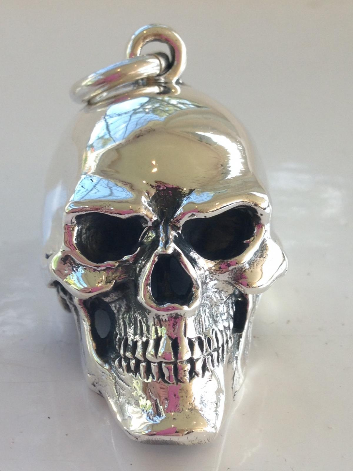 Photo of Large Solid Silver Gothic Skull Pendant