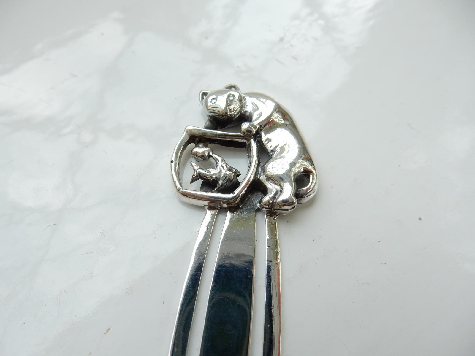 Photo of Sterling Silver Cat & Fish Bowl Bookmark