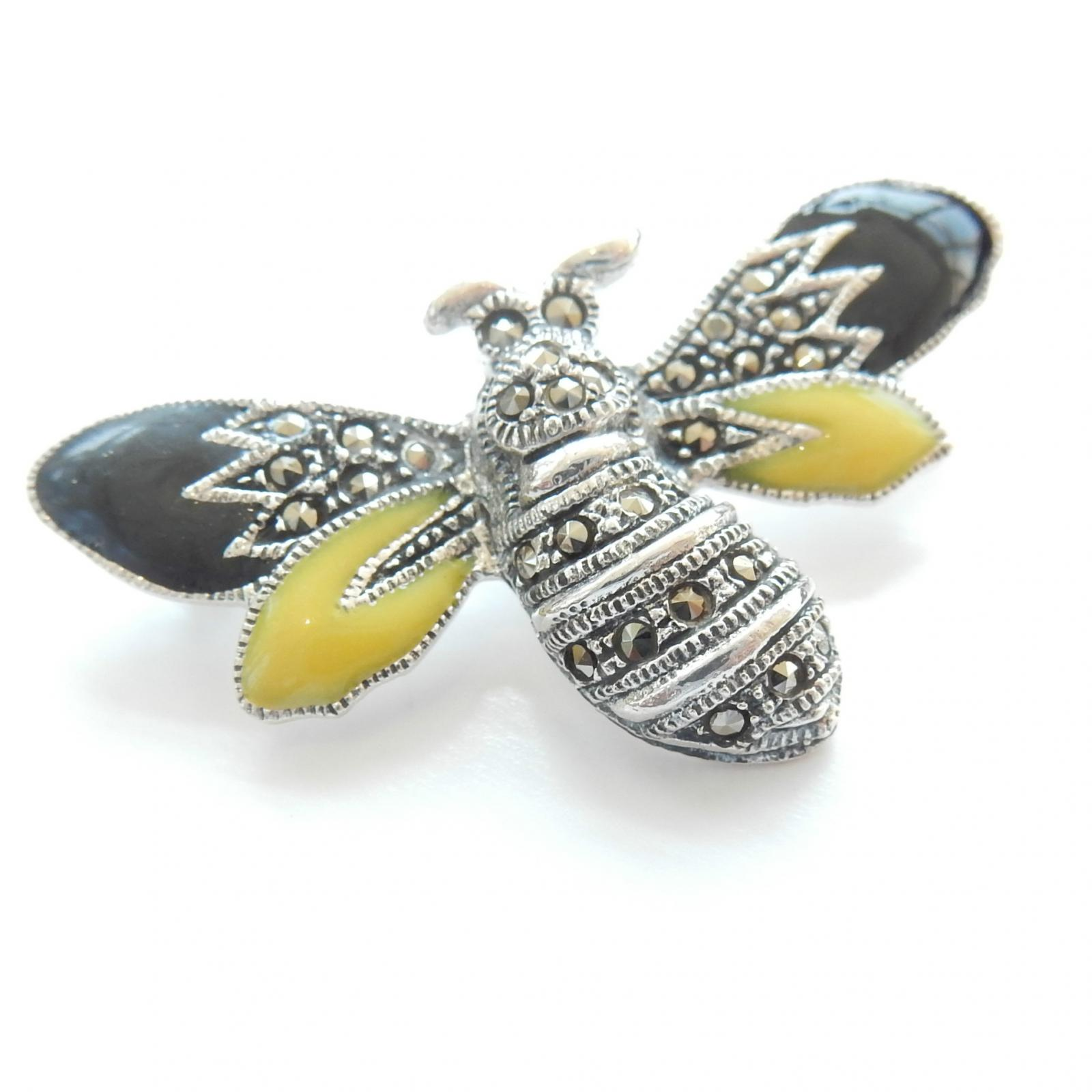 Photo of Silver & Enamel Bumble Bee Brooch