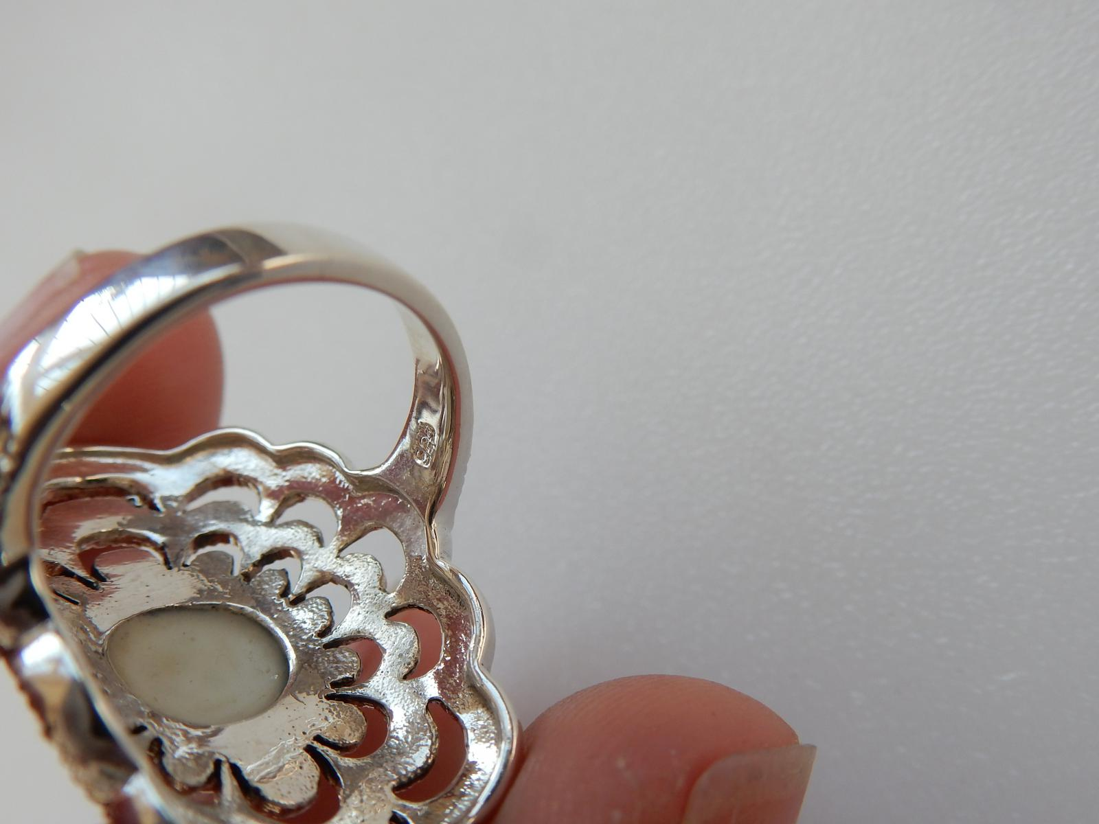 Photo of Silver Opal Filigree Ring