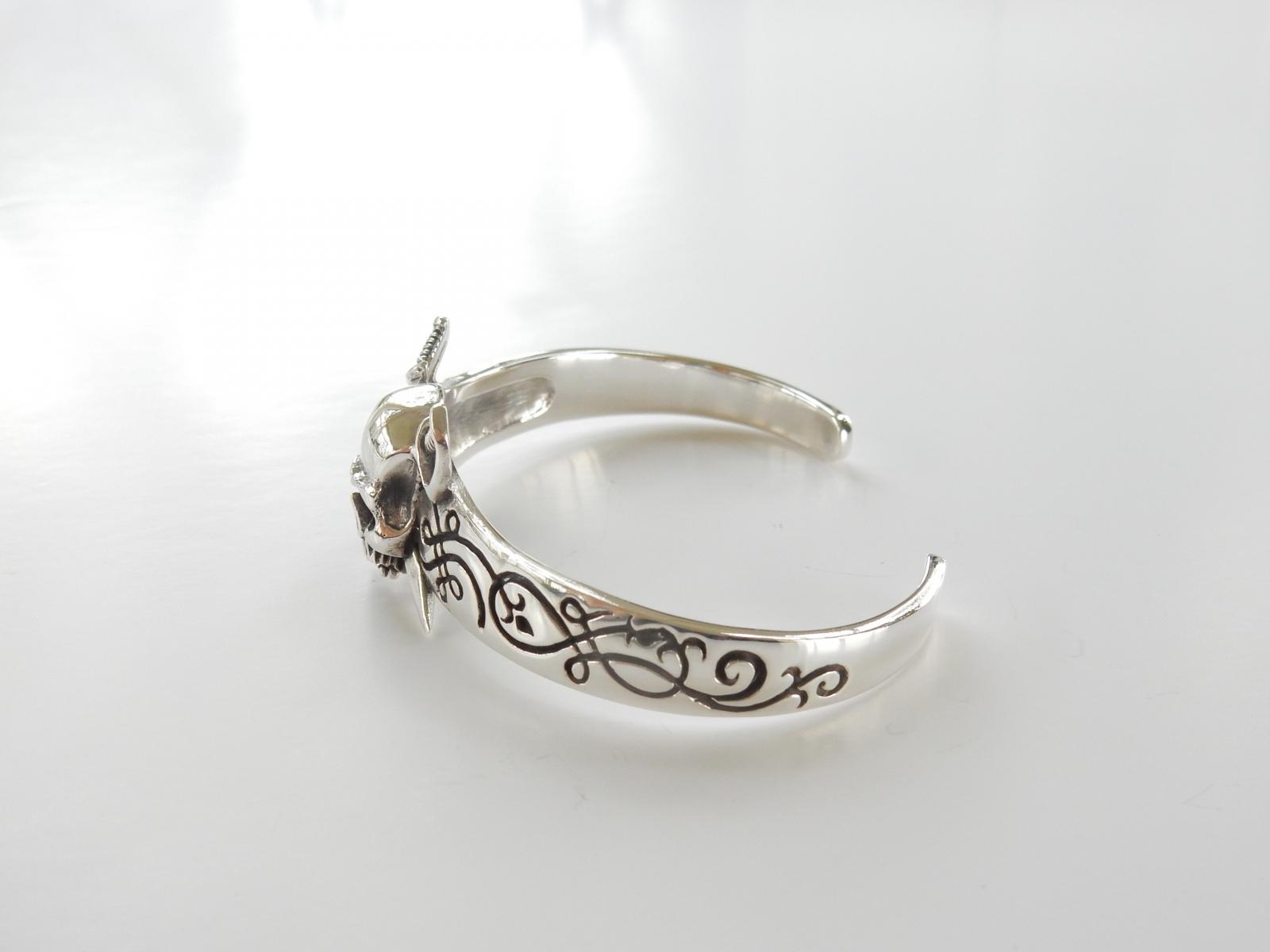 Photo of Gothic Sterling Silver Skull Bracelet