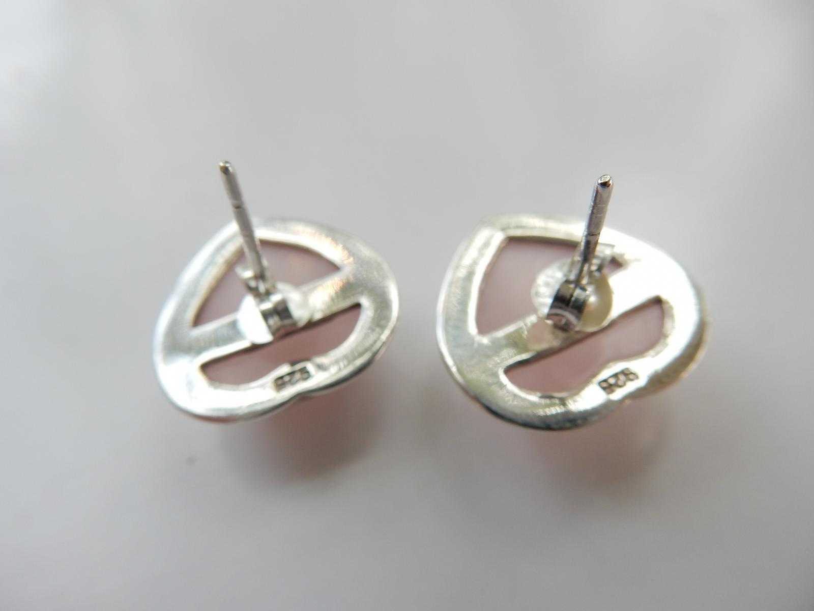 Photo of Sterling Silver Rose Quartz Earrings