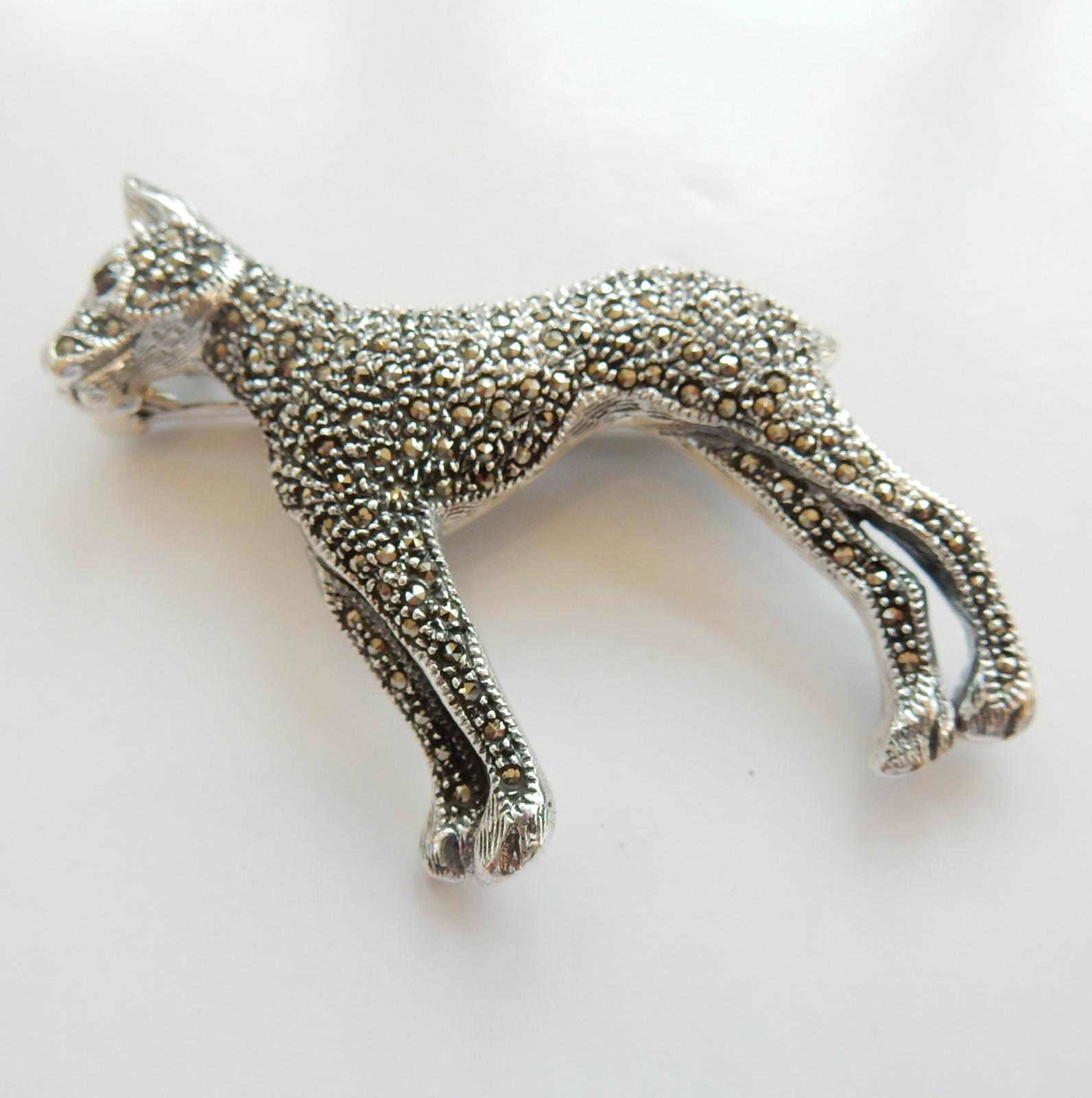 Photo of Large Sterling Silver Dog Brooch