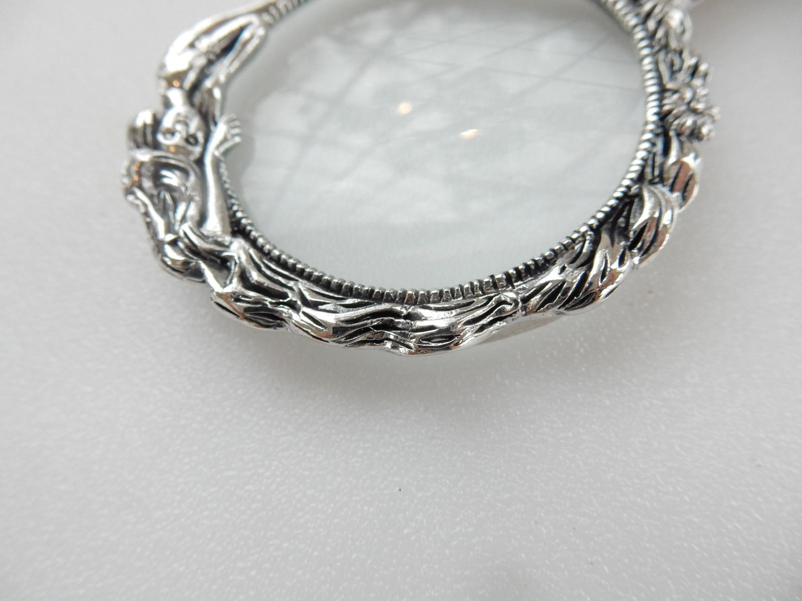 Photo of Sterling Silver Mermaid Magnifying Pendant