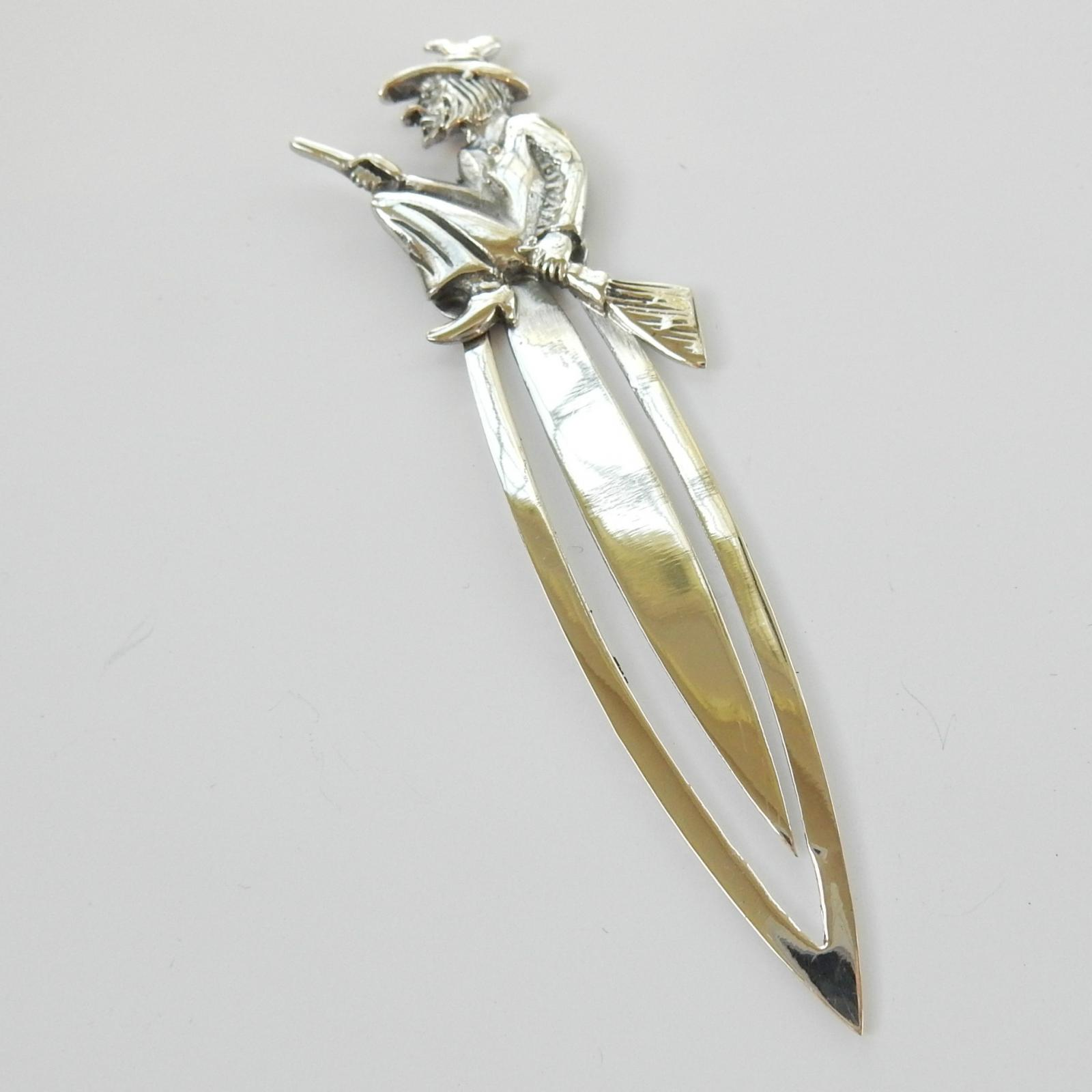Photo of Sterling Silver Witch on Broomstick Clip