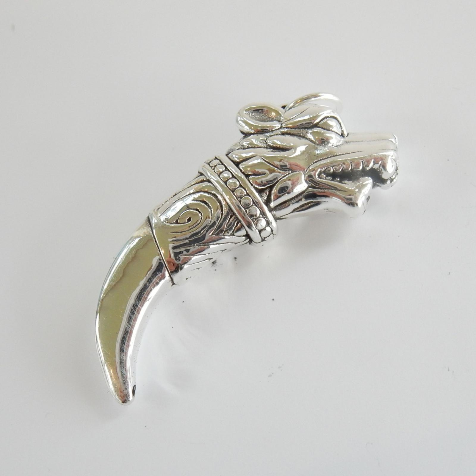 Photo of Vintage Silver Wolf Fang Pendant